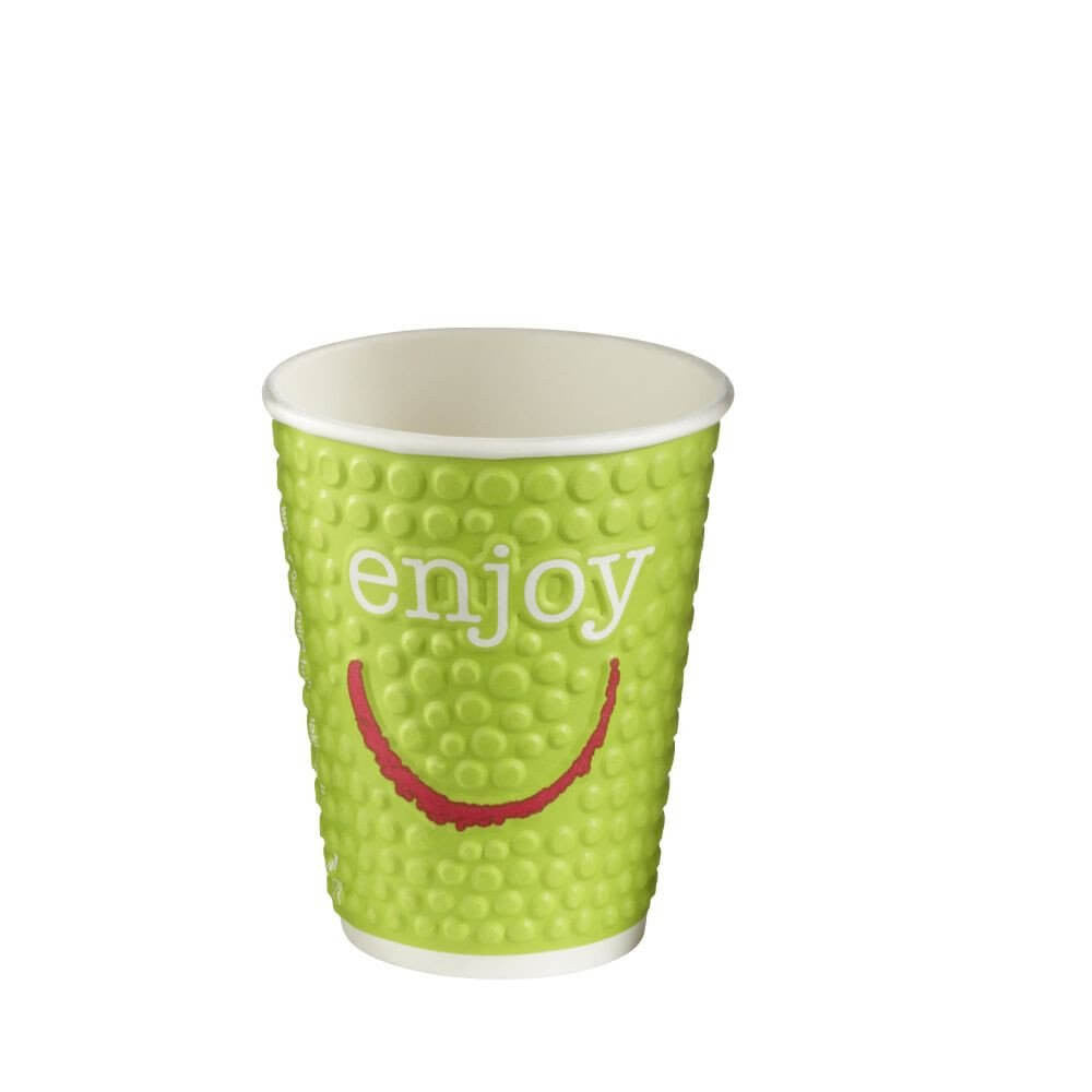 Paper Cups Coffee To Go Enjoy bubble double walled 8oz 237ml