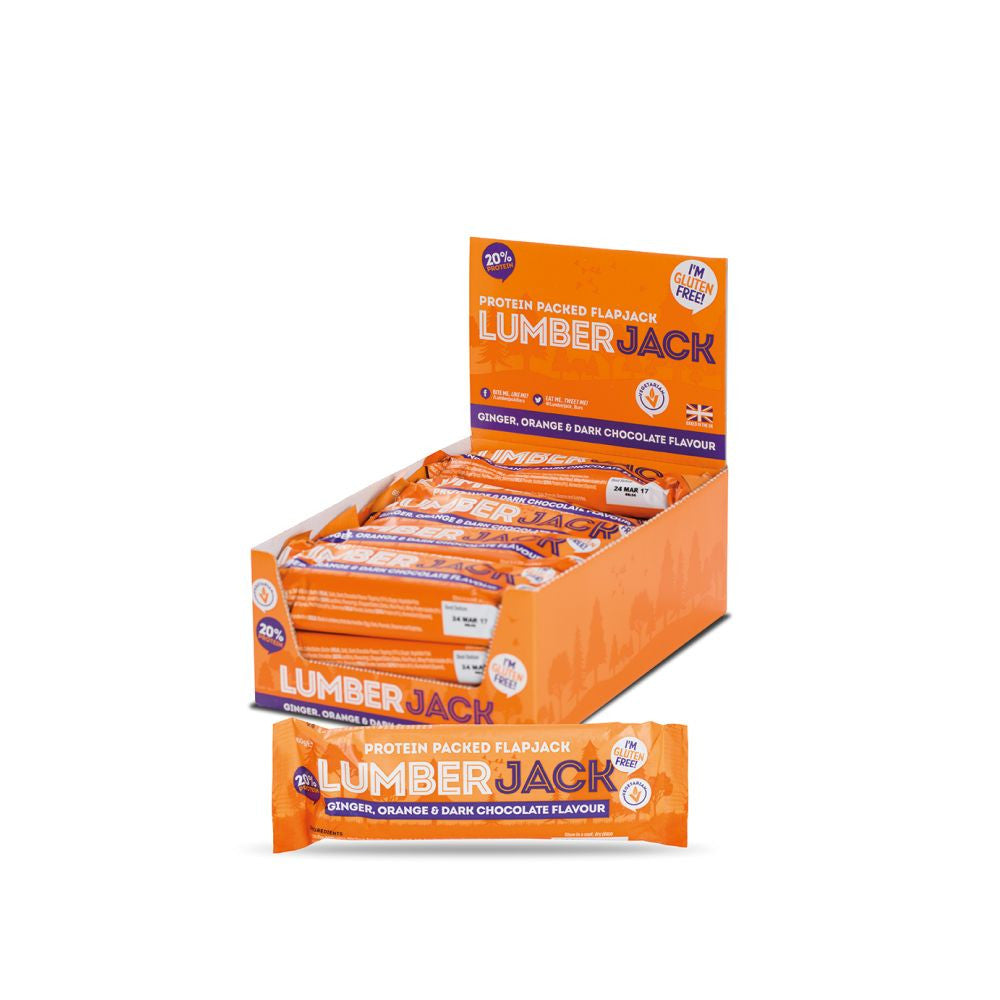 Lumberjack Protein Flapjack - Orange & Dark Chocolate (15x65g)