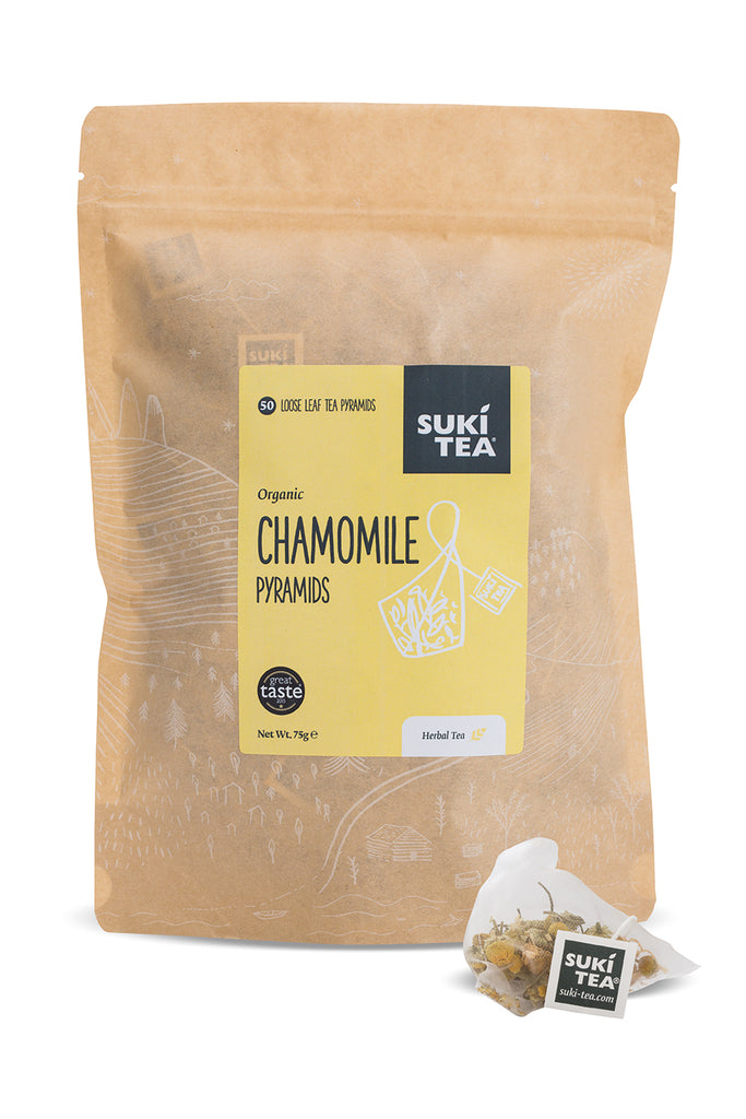 Suki Tea - Chamomile (50 Pyramid Tea Bags)