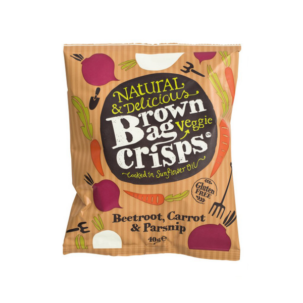 Brown Bag Vegetable Crisps (15x40g)