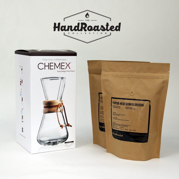Chemex Coffee Brewer 3 Cup Bundle