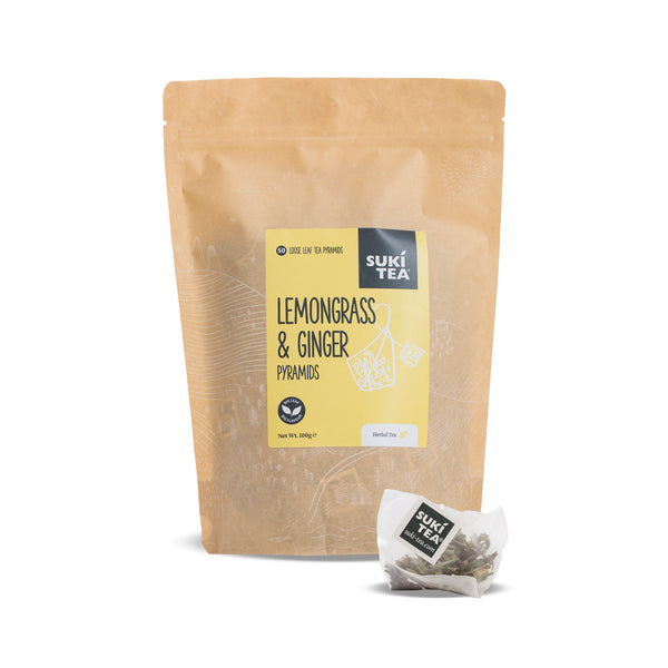 Suki Tea - Lemongrass & Ginger (50 Pyramid Tea Bags)