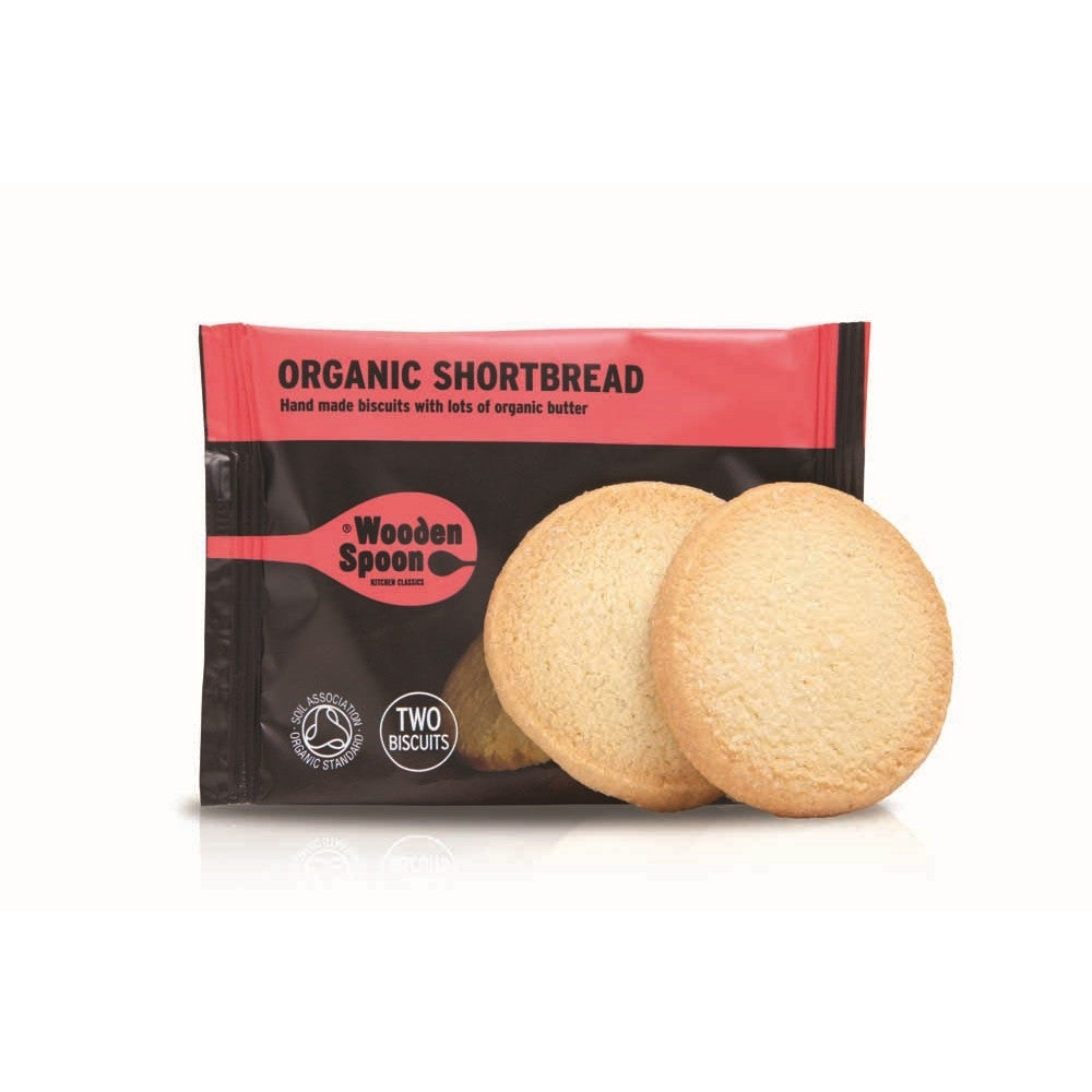 Wooden Spoon Organic Shortbread (48x35g twin packs)