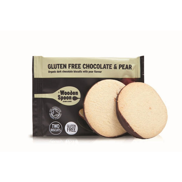 Wooden Spoon Gluten Free Chocolate & Pear Biscuits (48x35g twin pack)