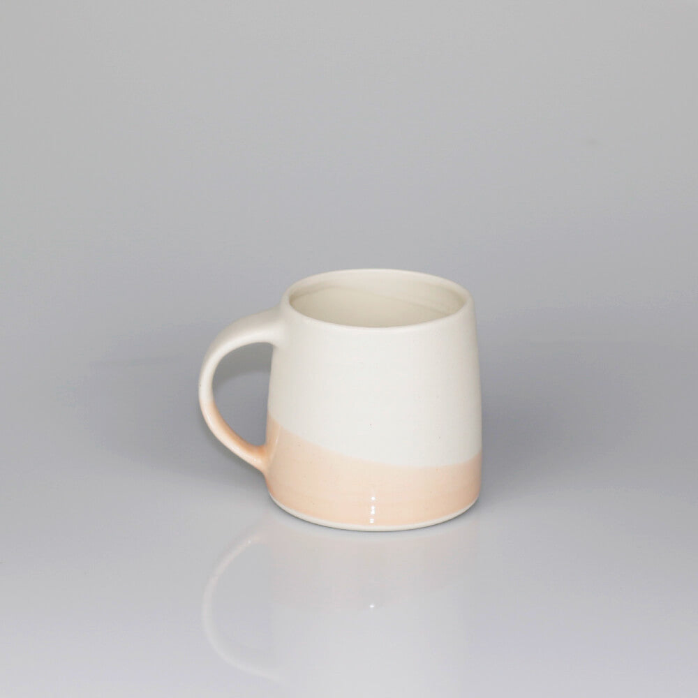 Kinto White / Pink Beige Dual Colour Porcelain Mug (320ml)