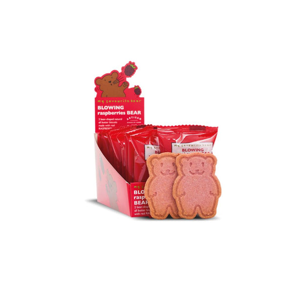 Blowing Raspberries Bear Biscuits (48x25g Twin Packs)