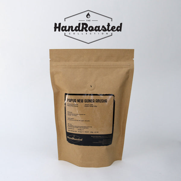 Hand Roasted Papua New Guinea Arusha Coffee Beans (250g Bag)