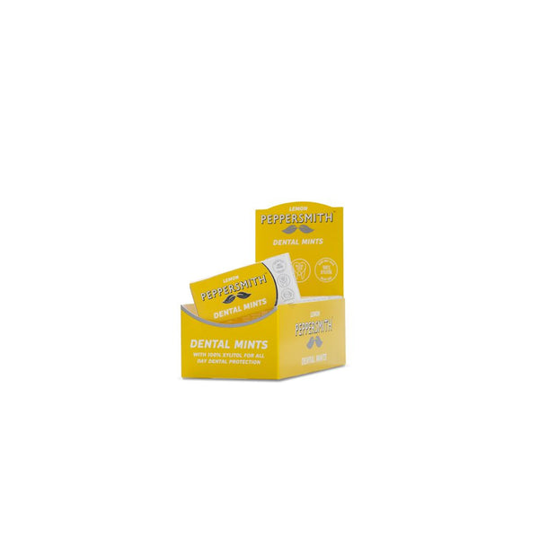 Peppersmith Lemon Dental Mints (12 packs x 25 mints)