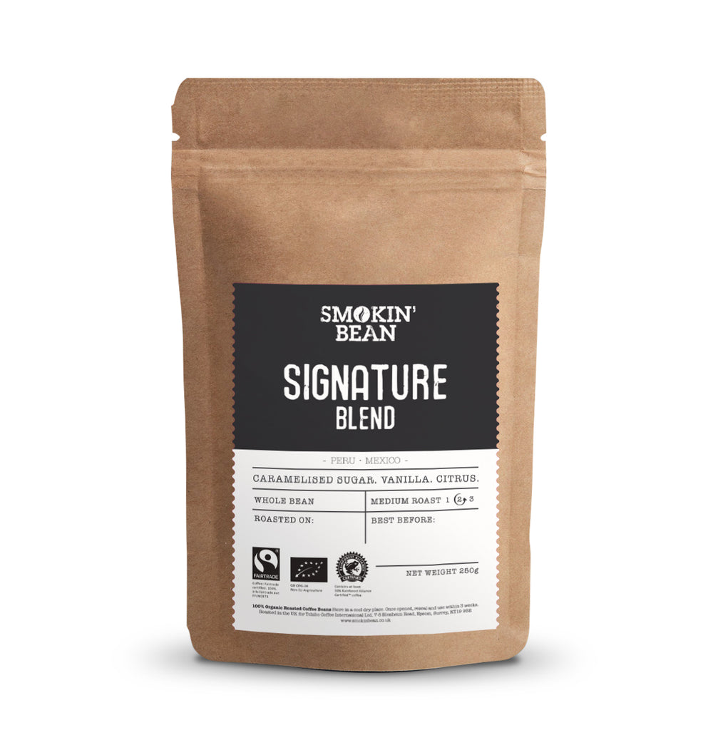 Smokin' Bean Signature Blend Triple Certified Coffee Beans (250g Bag)