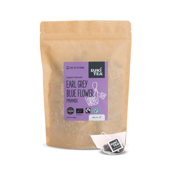 Suki Tea - Earl Grey Blue Flower (50 Pyramid Tea Bags)