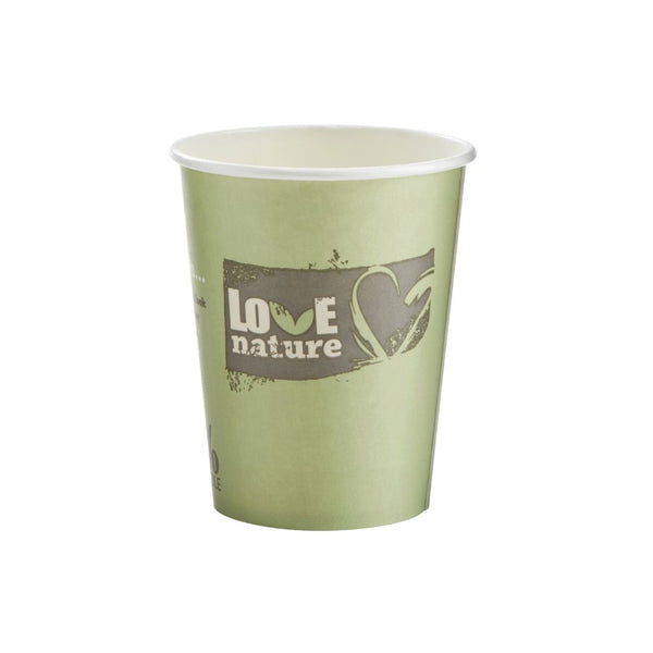 Huhtamaki Bioware Love Nature 8oz compostable cups (2000 cups)