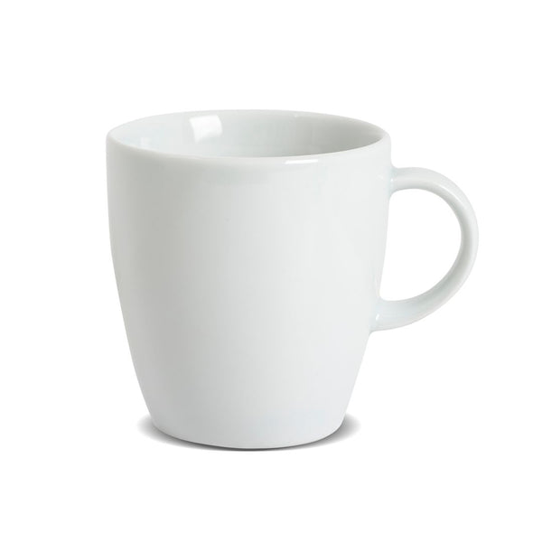 White Porcelain Mugs - Set of 6 x 10oz/284ml
