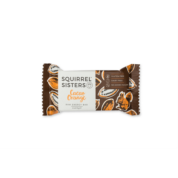 Squirrel Sisters - Cacao Orange Bar (16x40g Bars)