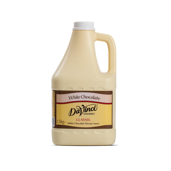 DaVinci White Chocolate Sauce (1x2.5kg Bottle)