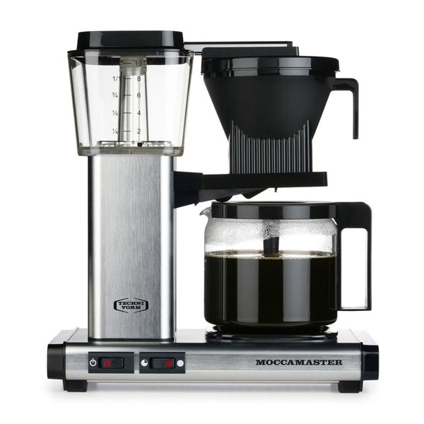 Technivorm Moccamaster KBG 741 Filter Coffee Machine (Brushed Aluminum) + Glass Flask