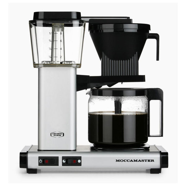 Technivorm Moccamaster KBG 741 Filter Coffee Machine (Silver) + Glass Flask