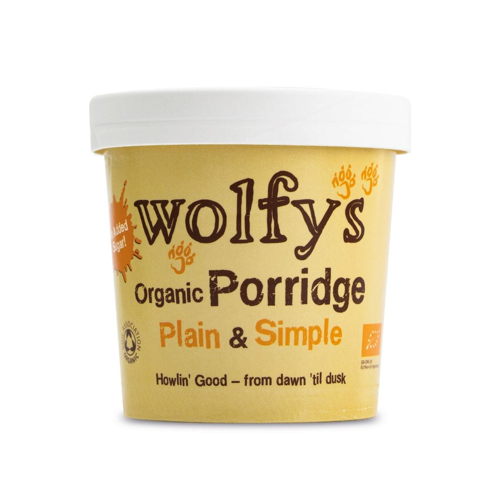 Wolfy's Organic Porridge - Plain & Simple (6x60g)