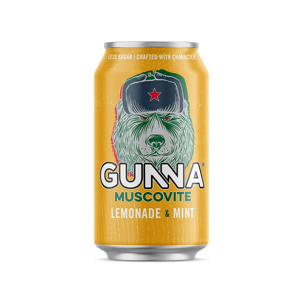 Gunna RTD Craft Soda - Muscovite (Lemon & Mint) Multipack (24x330ml)