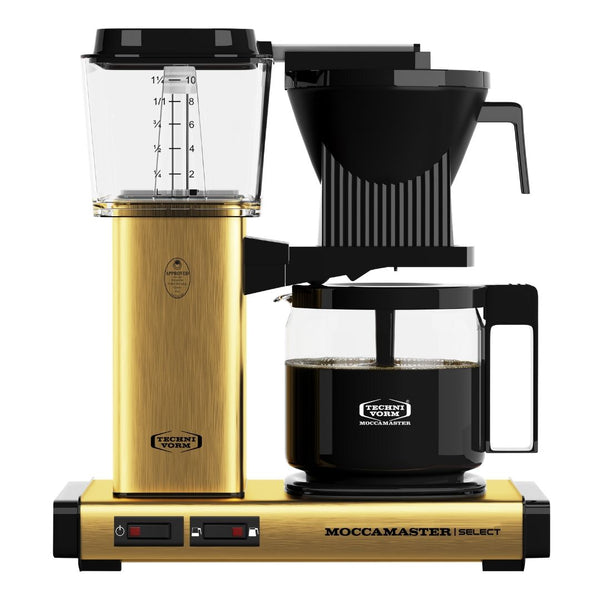 Technivorm Moccamaster Select Filter Coffee Machine (Brushed Brass) + Glass Flask