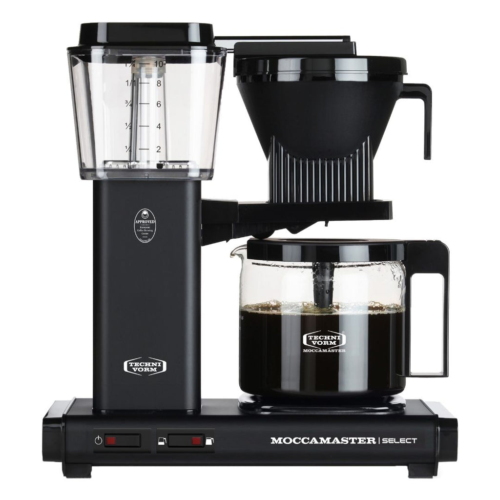 Technivorm Moccamaster Select Filter Coffee Machine (Matt Black) + Glass Flask