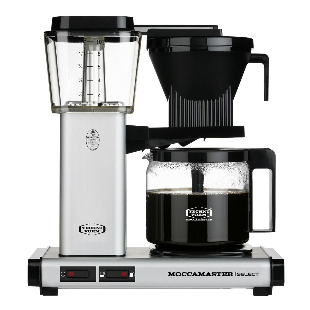 Technivorm Moccamaster Select Filter Coffee Machine (Matt-Silver) + Glass Flask