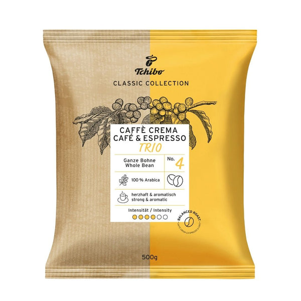 Tchibo Classic Collection Trio Caffe Crema (1x500g Bag)