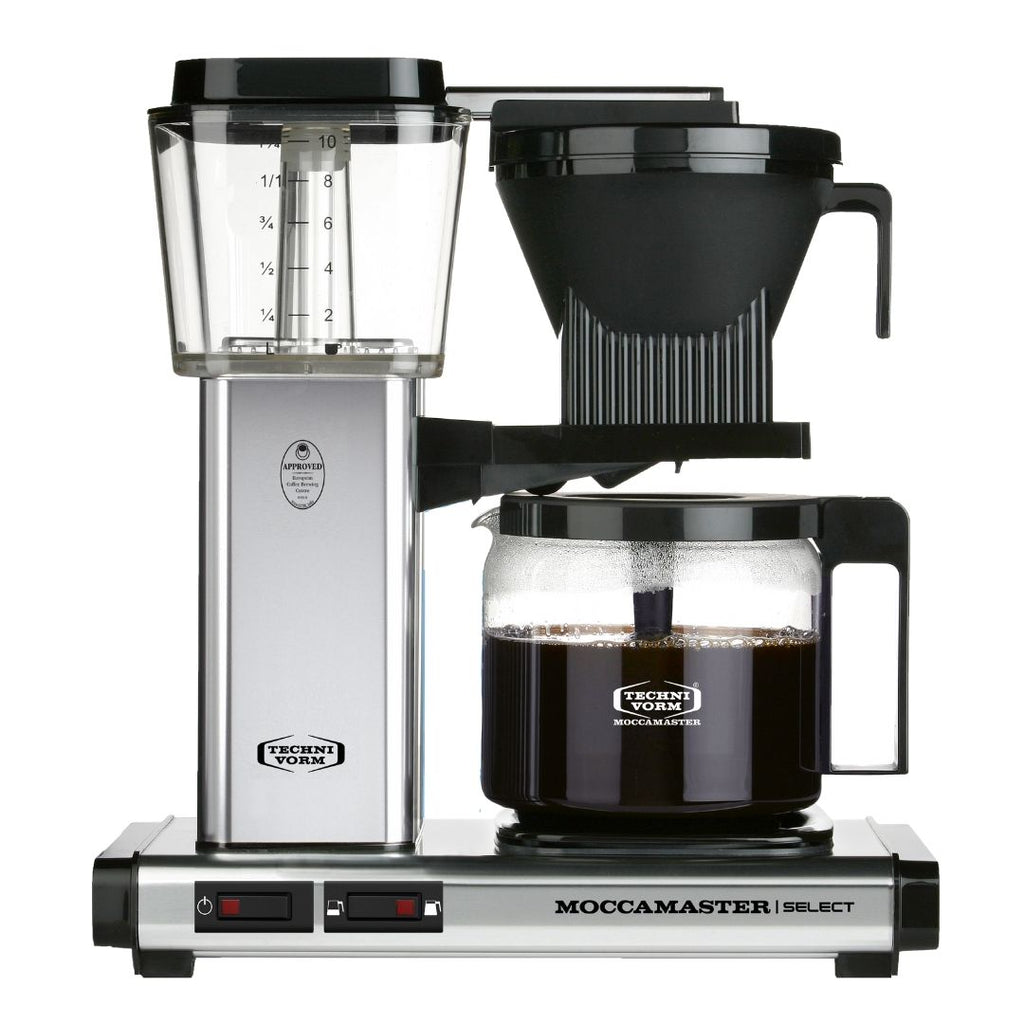 Technivorm Moccamaster Select Filter Coffee Machine (Polished Silver) + Glass Flask