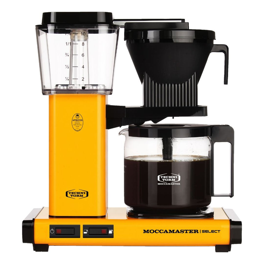 Technivorm Moccamaster Select Filter Coffee Machine (Yellow Pepper) + Glass Flask