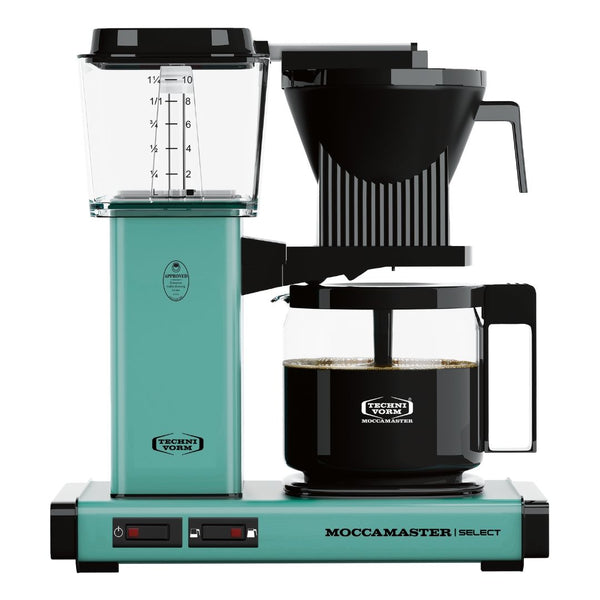 Technivorm Moccamaster Select Filter Coffee Machine (Turquoise) + Glass Flask