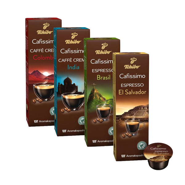 Tchibo World Flavours Single Origin Caffisimo Taster set (4x10 Capsules)