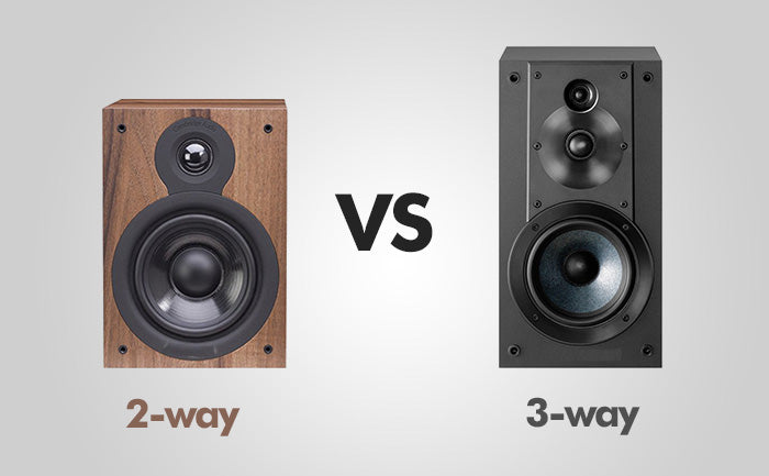 What is the difference between a 2-way and a 3-way speaker