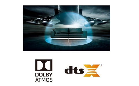 Surround yourself in Dolby Atmos® and DTS:X® sound