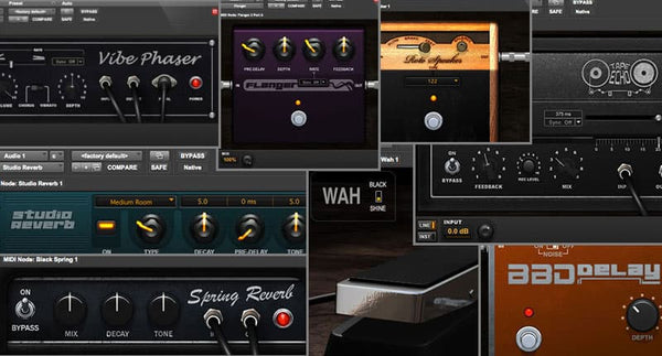 20 effect plugins provided by AVID