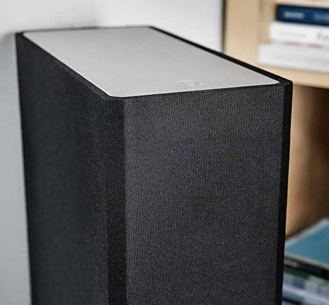 """Integrated 8"""" Powered Subwoofer and Dual Bass Radiators"""