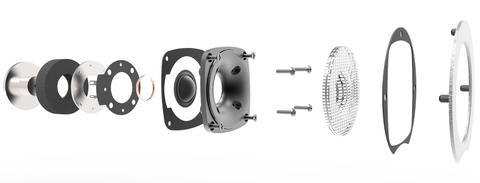 Silk dome tweeter with deep-spheroid custom waveguide