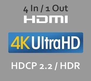 HDMI® 4 In / 1 Out for UltraHD