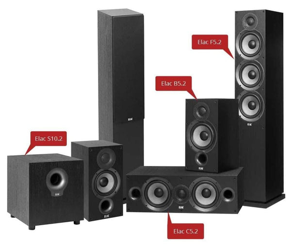 Impressive Elac Debut 2.0 - 5.1 Channel Home Theater Package