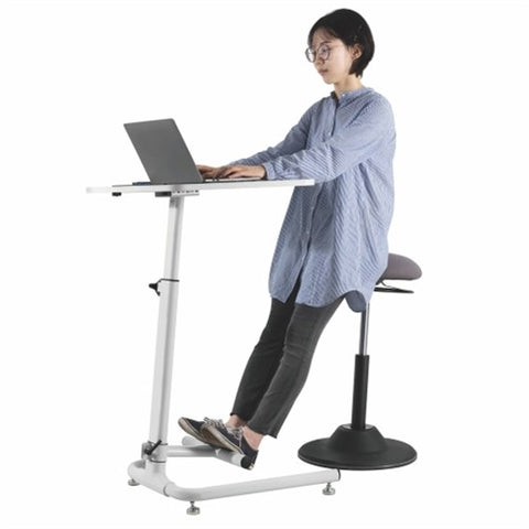 Lumi FWS03-1 Pneumatic On-floor Sit-stand Workstation with Footrest Bar