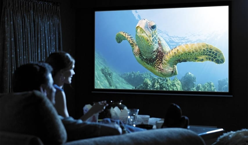 Projector screens are too big for small homes