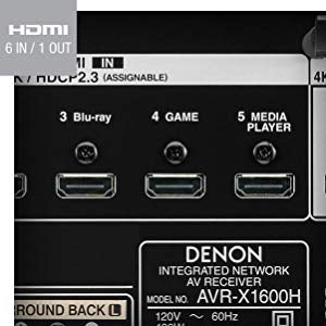 Denon AVR-X1600H 7 2-Channel 4K Ultra HD AV Receiver, Supports 3D Audio  Formats and Built-In HEOS