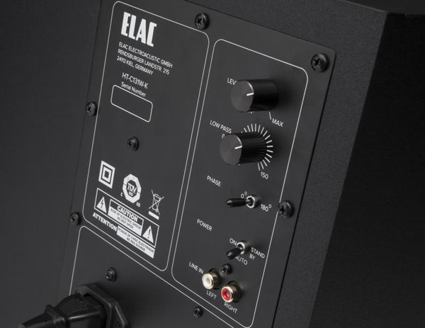 Elac Cinema 5 satellite speakers - Back Panel