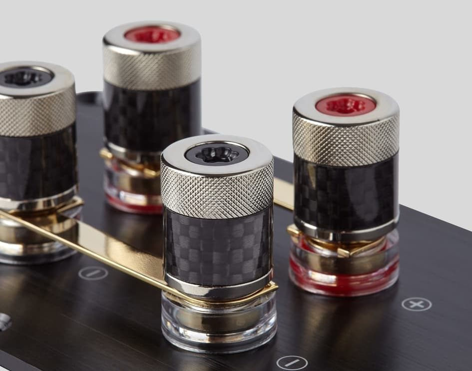 Audiophile-grade binding posts for versatile connectivity