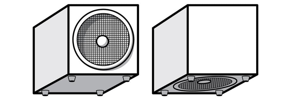 Front-Firing and Down-Firing Subwoofers