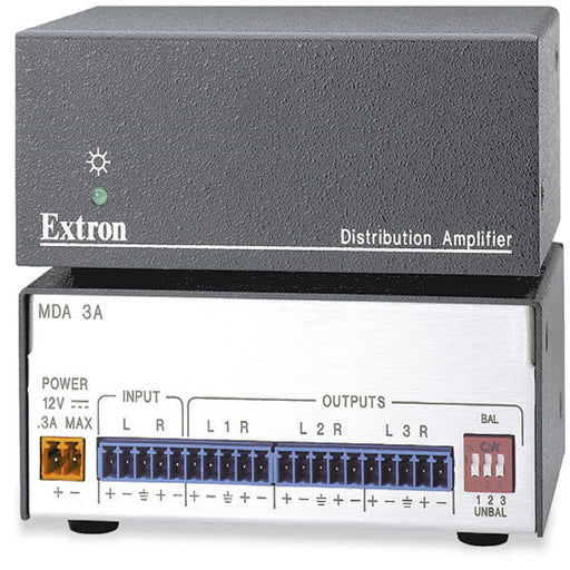 Extron MDA 3A Three Output Stereo Audio Distribution Amplifier
