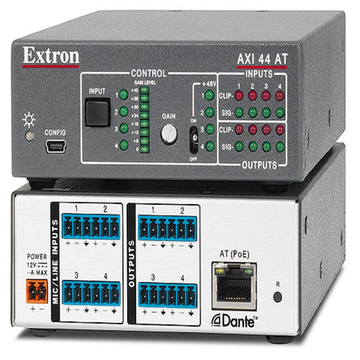 Extron AXI 44 AT 4 INPUT, 4 OUTPUT AUDIO EXPANSION INTERFACE WITH DANTE