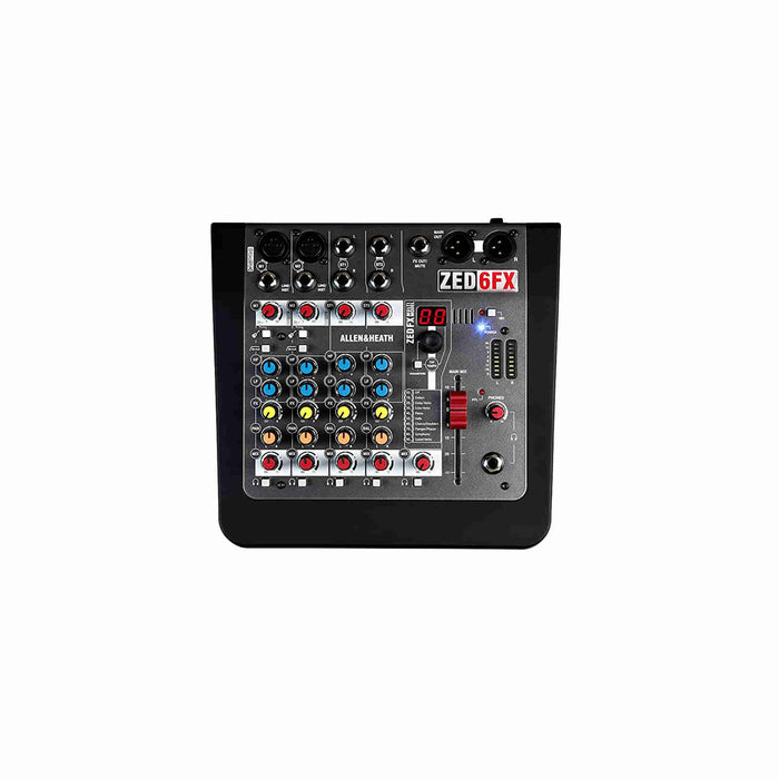 Allen & Heath (A&H) ZED-6FX 6-channel Live Mixer with FX - Ooberpad