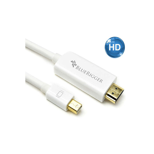 BlueRigger Mini DisplayPort (DP) to HDMI Cable (6ft /10ft /15ft) - Ooberpad