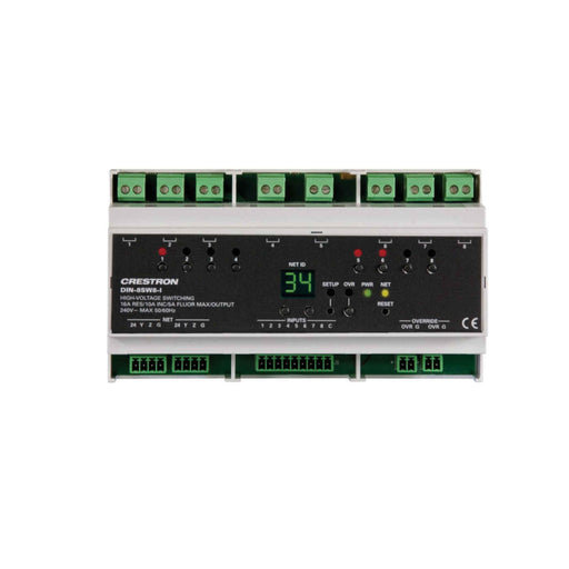 Crestron DIN-8SW8-I Rail High-Voltage Switch with Digital Inputs -  Ooberpad
