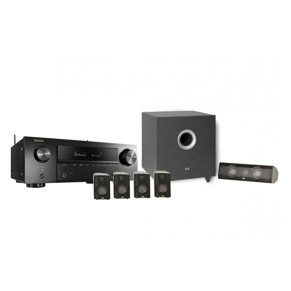 Elac Cinema 10 Set Home Theater Speakers Denon Avr X1500h 72ch Av How To Hook Up Subwoofer Receiver