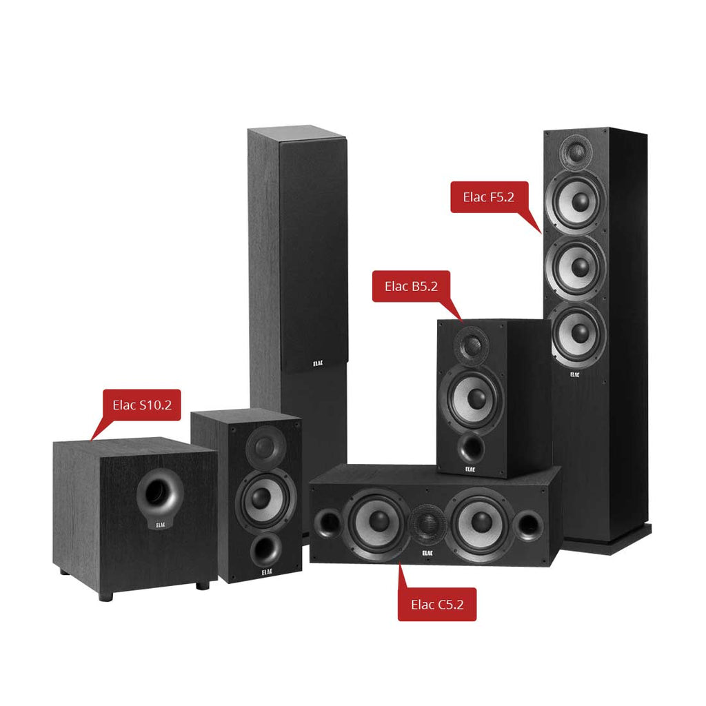 Elac Debut 2.0 - 5.1 Channel Home Theater Speaker Package